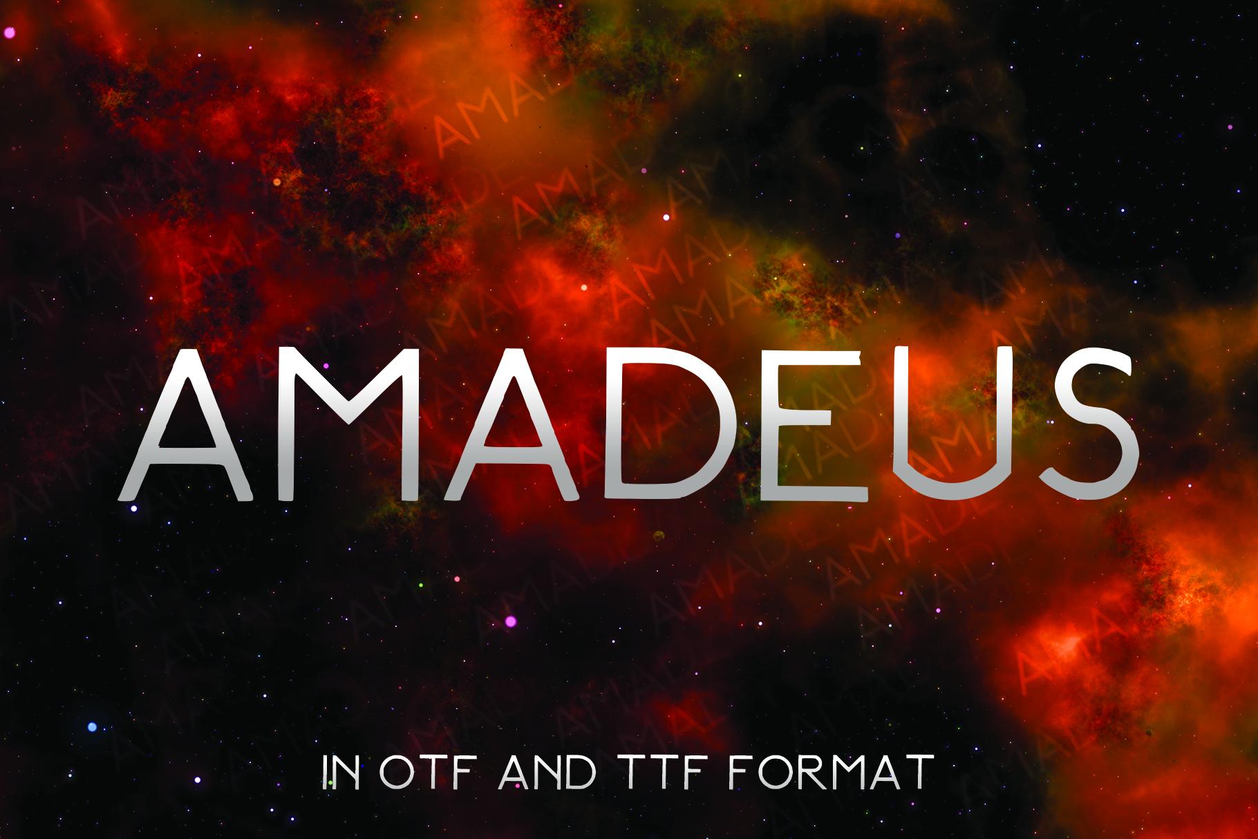 AMADEUS, a futuristic font example image 1