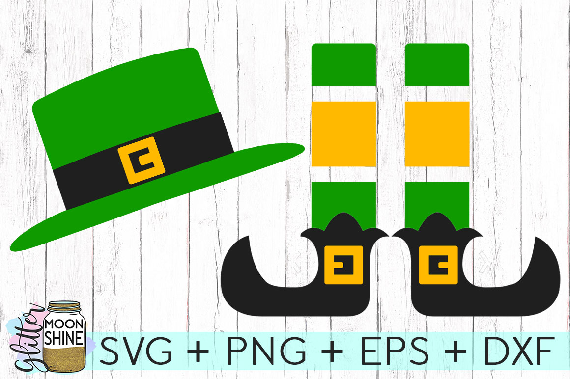 Leprechaun Hat & Legs Set SVG DXF PNG EPS Cutting Files example image 1