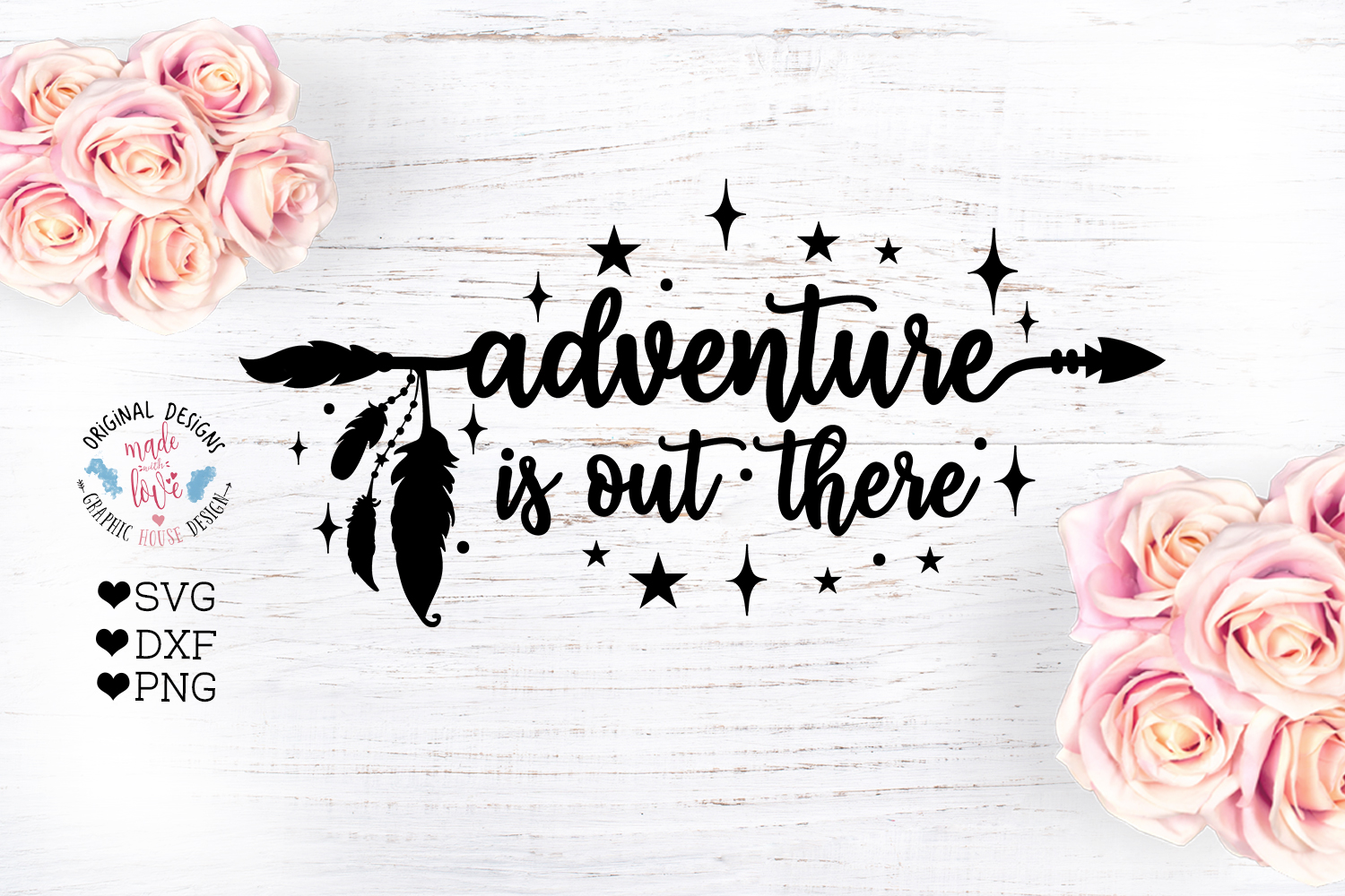 Adventure is Out There - Boho Arrow Cut File example image 2