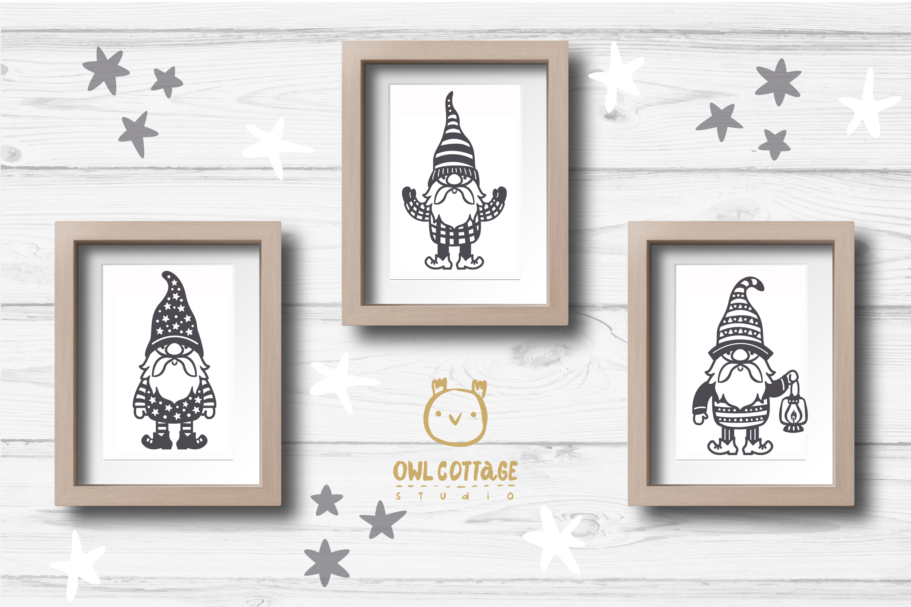 Scandinavian Gnomes SVG, Gnome Clipart, Tomte example image 11