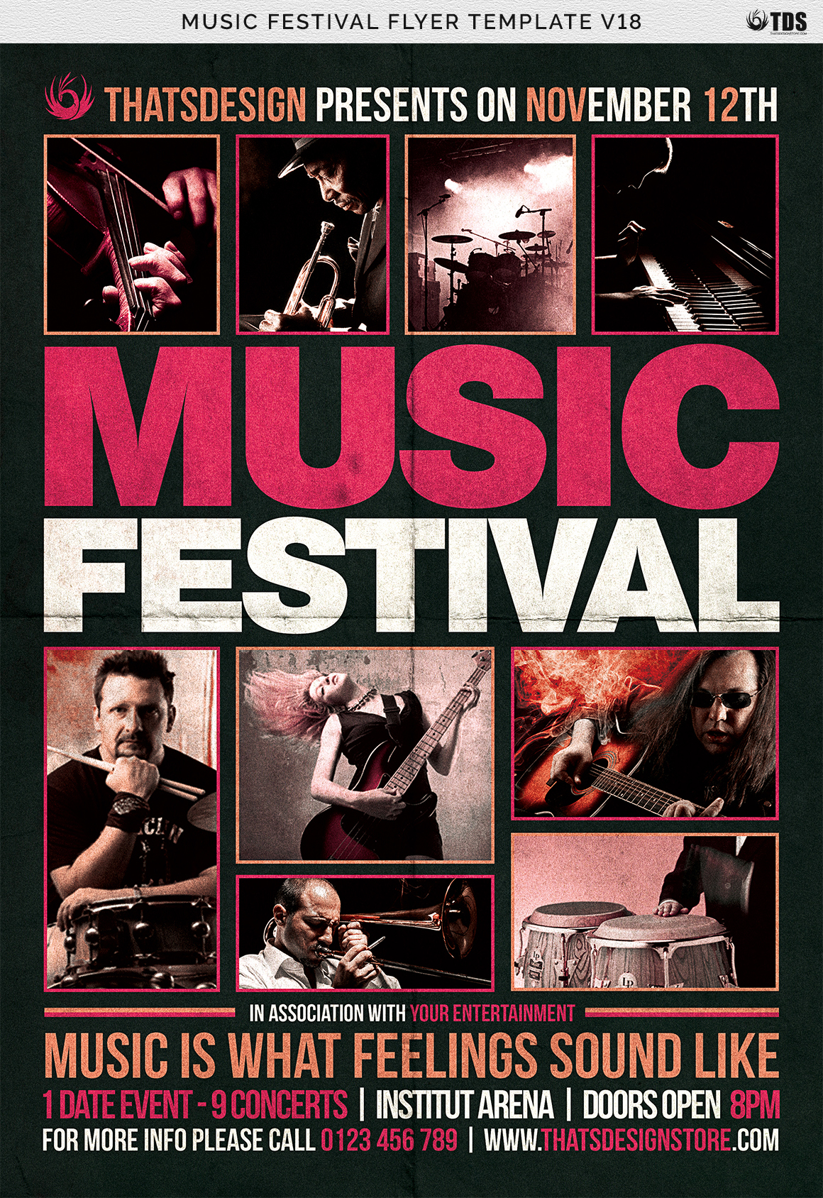 Music Festival Flyer Template V18 example image 7