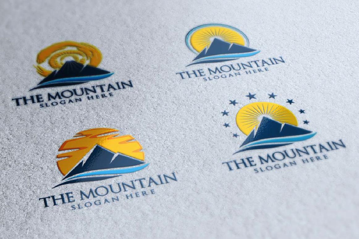 Mountain, summit logo template example image 4