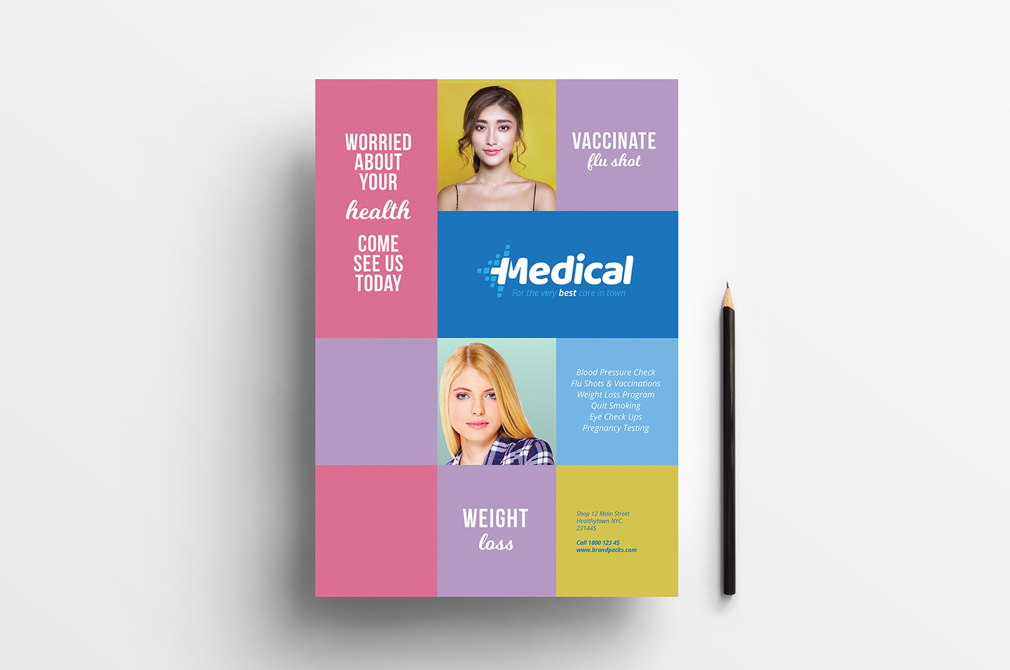 A4 Modern Medical Advertisement Template example image 1