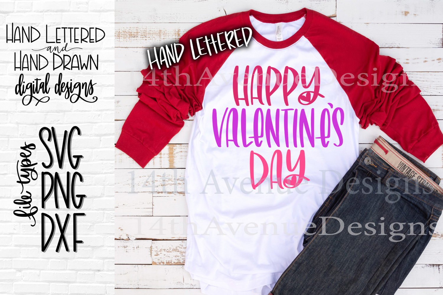 Happy Valentines Day SVG, Happy Valentines Day Cut File example image 1