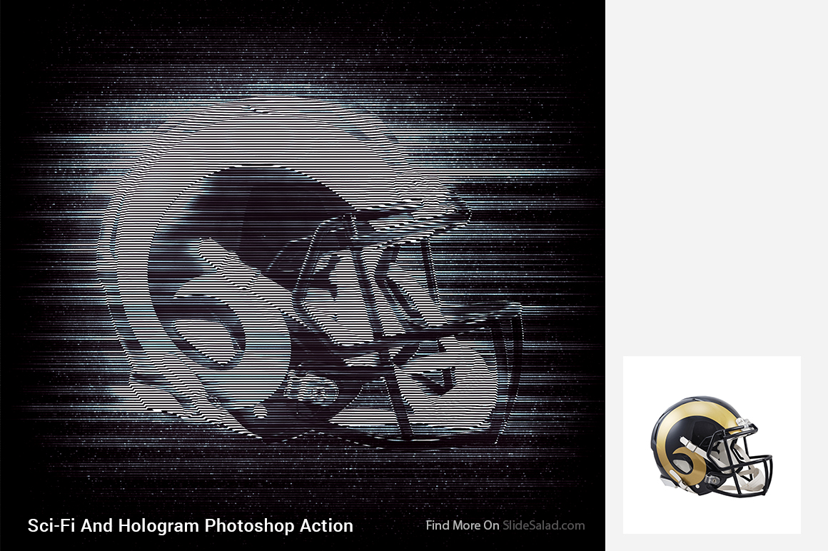 Sci-Fi And Hologram Photoshop Action example image 6