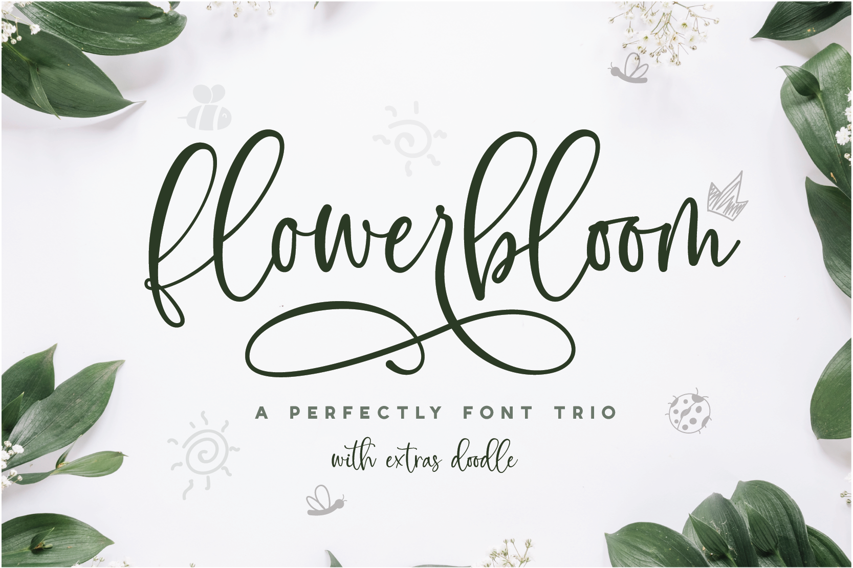 Flowerbloom Font Trio example image 1