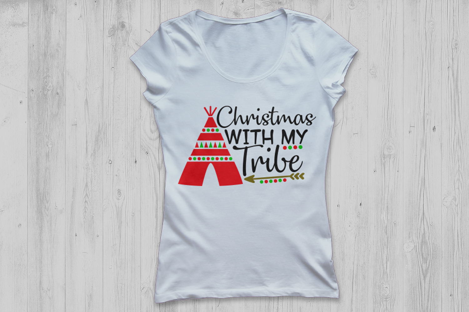 Christmas With My Tribe Svg, Christmas Svg, Winter Svg. example image 2