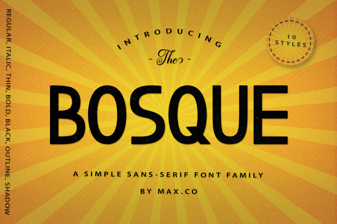 Bosque Typeface example image 9