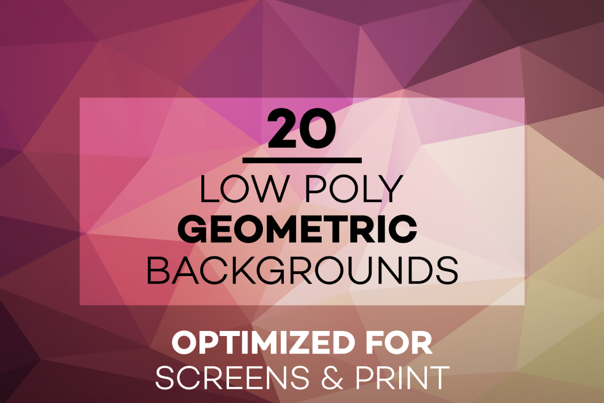 20 Low Poly Geometric Backgrounds example image 1