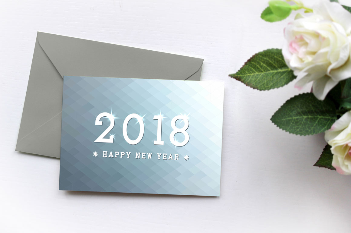 Bundle of New year 2018 cards,banner example image 3