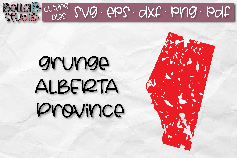 Alberta SVG, Canada SVG, Canadian SVG, Grunge, Distressed example image 1