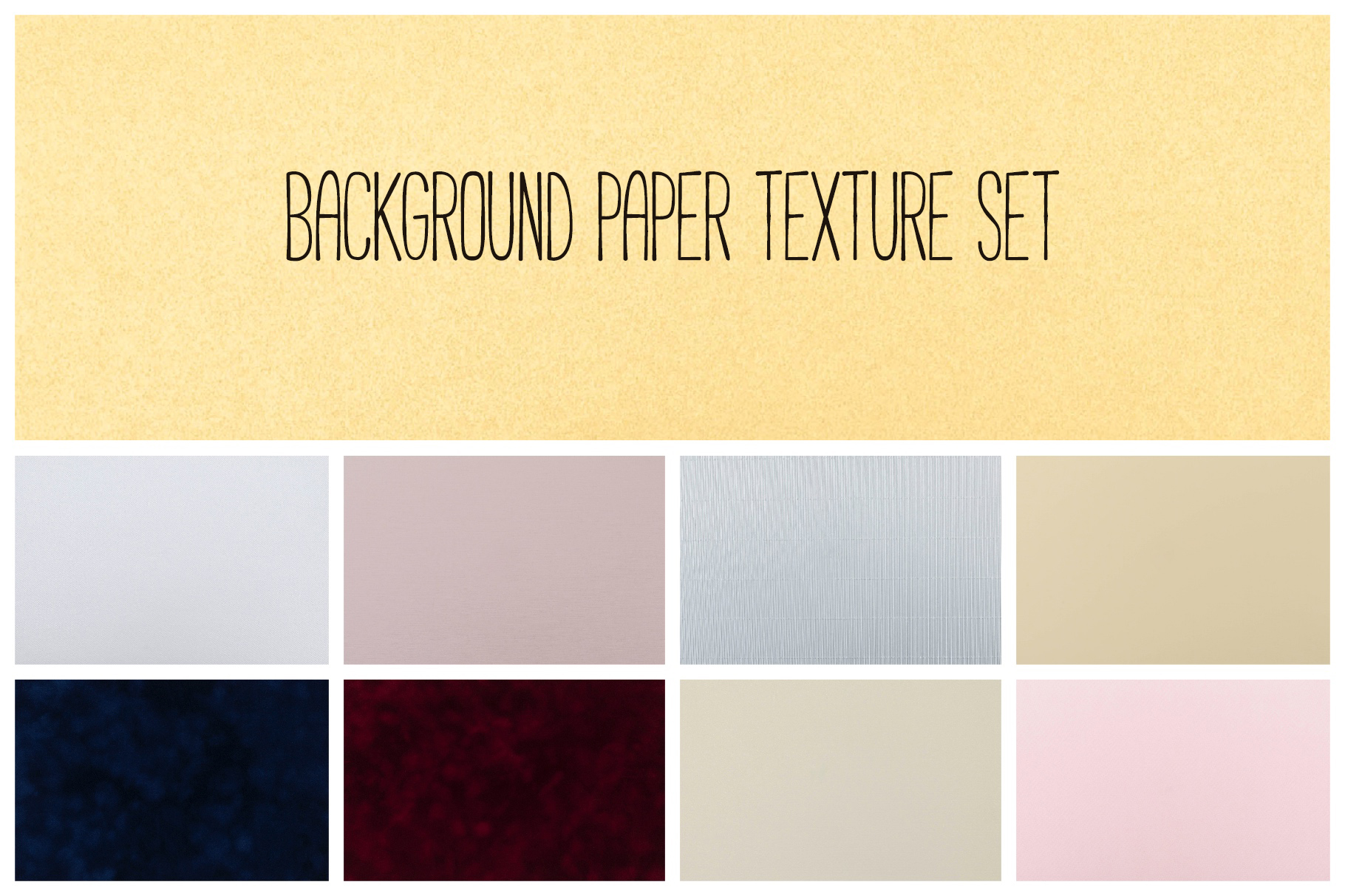 Set of 9 texture paper background example image 1