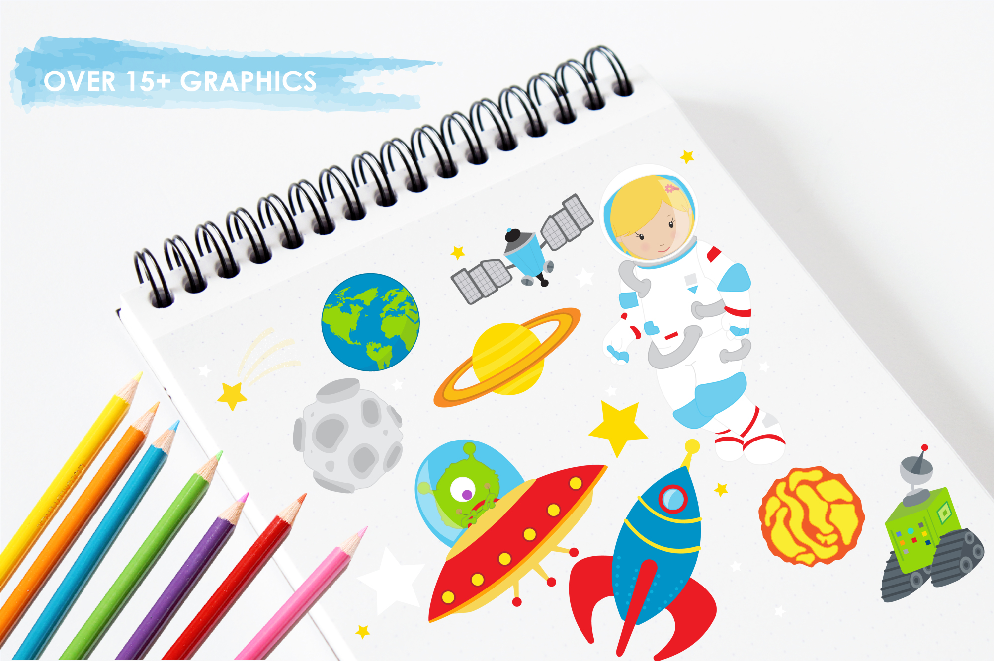 Space Explorers graphics and illustrations example image 3