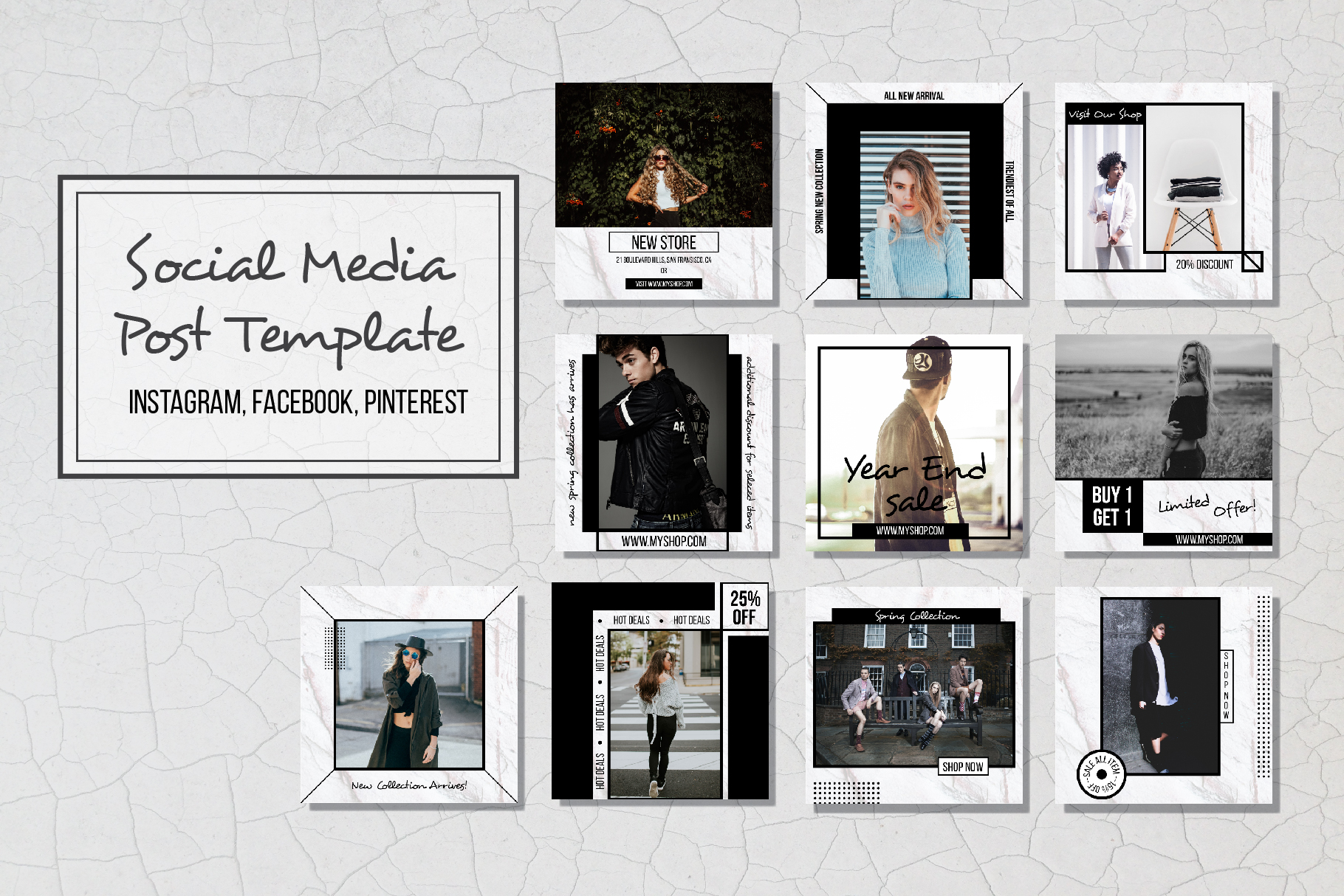 Geometric Social Media Post Template example image 1