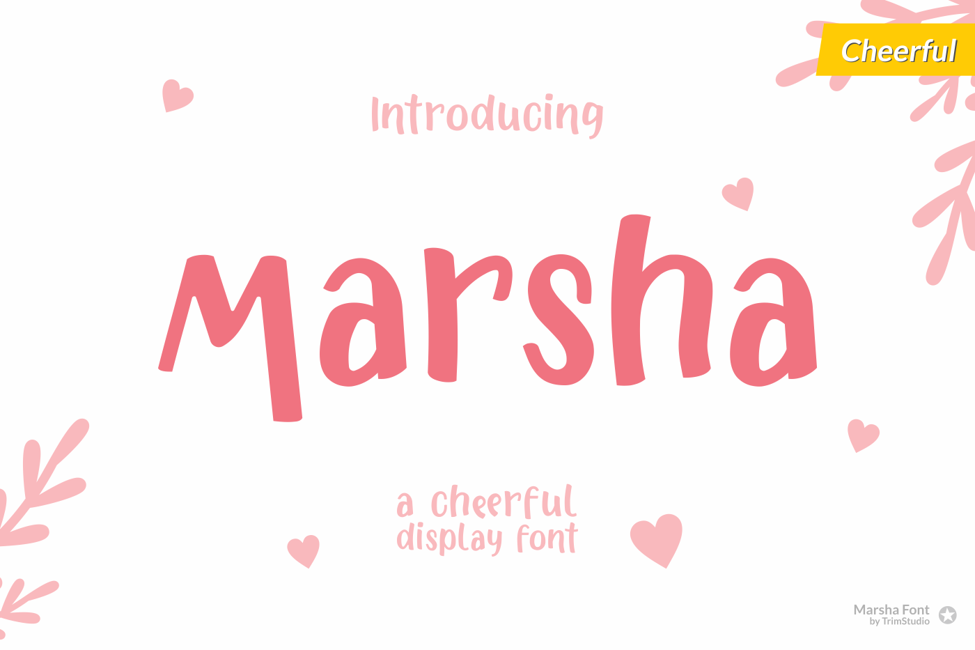 Marsha - Cheerful Font example image 1