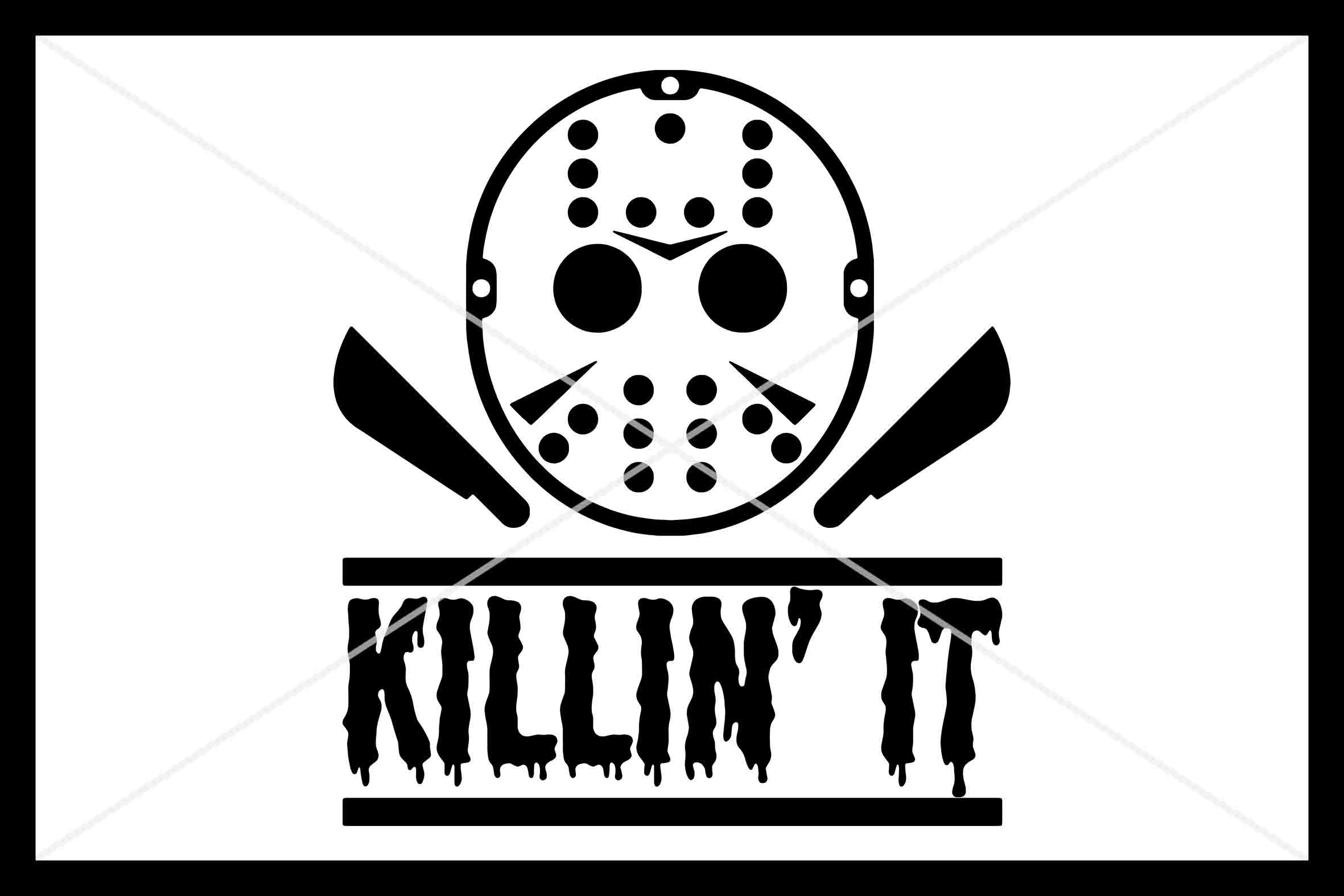 Halloween, SVG, Mask, Killin It, Silhouette Cameo, Cutfile example image 1