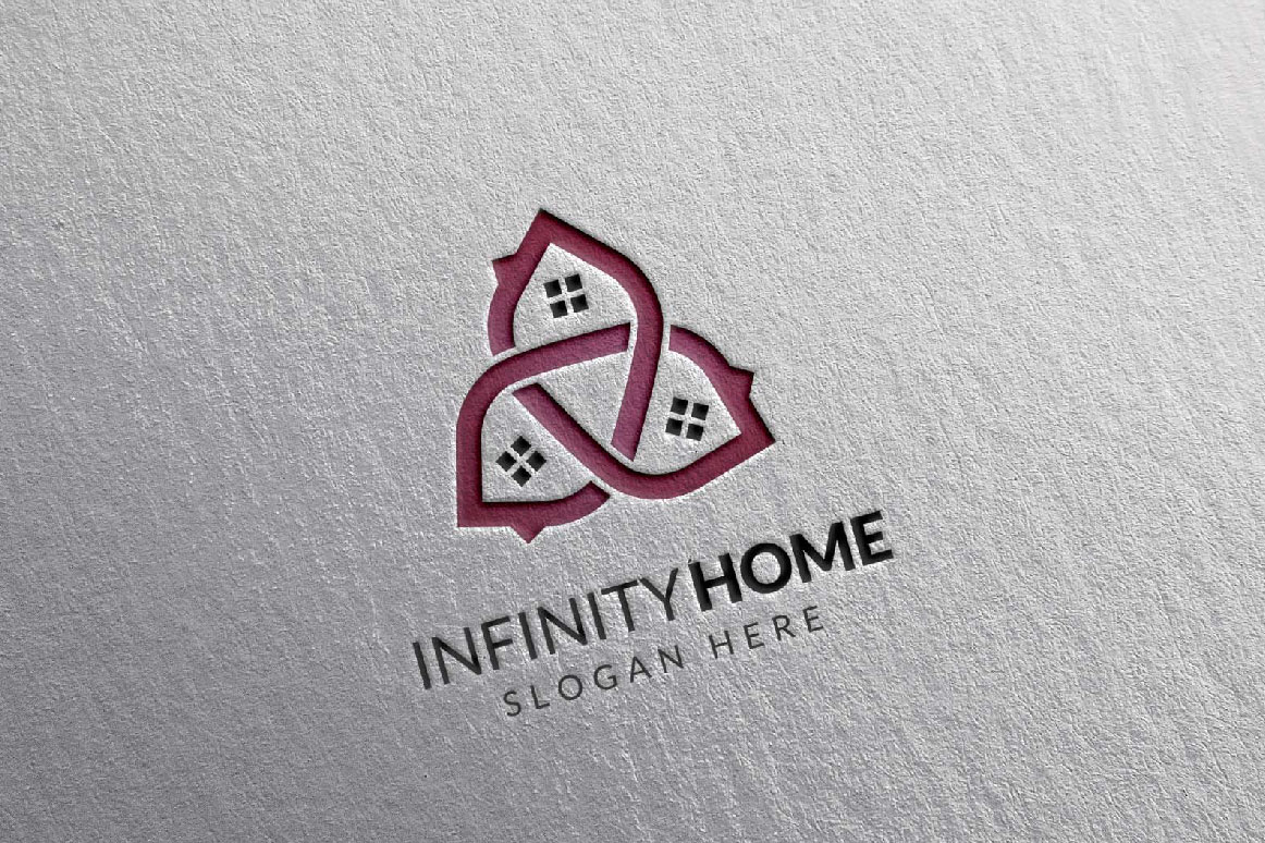 Real Estate Logo, Infinity Home Logo example image 4