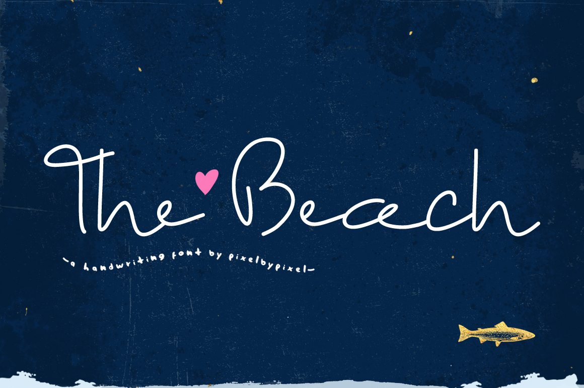 The Beach Font example image 1