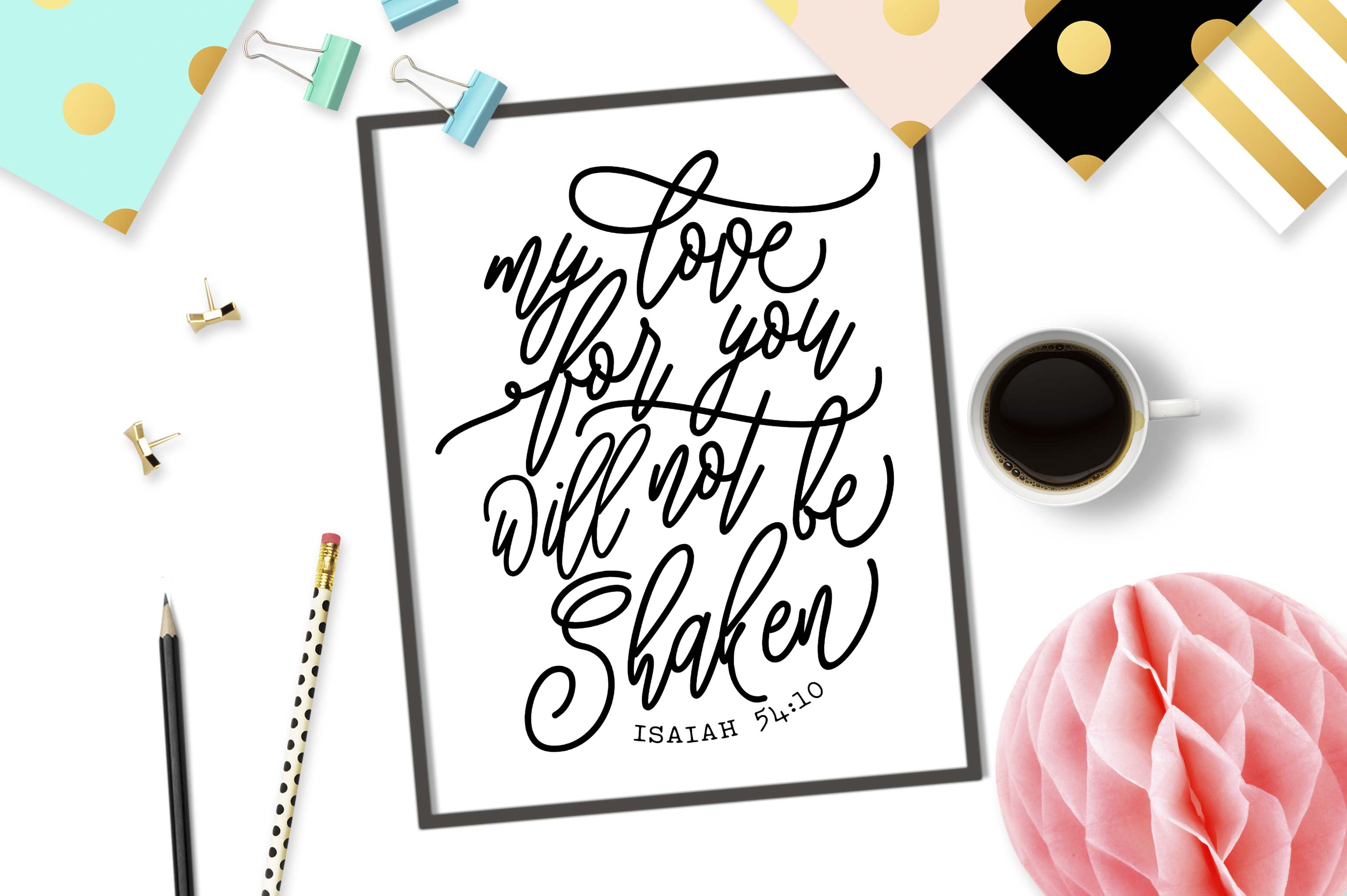 My love for you will not be shaken SVG DXG PNG EPS example image 2