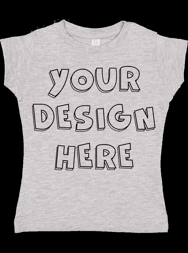 Toddler Gilrs Flat Jersey T Shirt Mockups - 17 example image 6