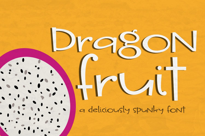 Dragon Fruit Handwritten Font example image 1