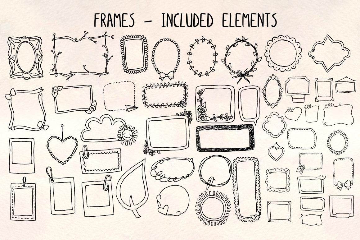 48 Photo Frames Planner Edges - Graphics Bundle example image 1