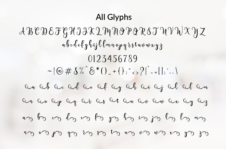 Lovely Valentine Script example image 3