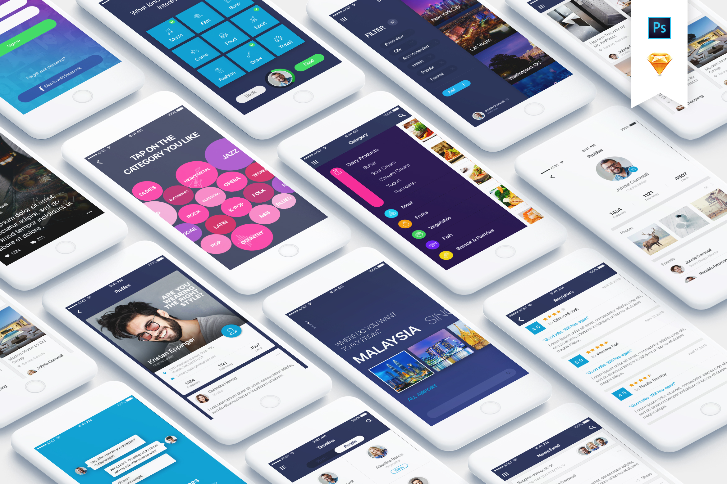 Mountify Mobile UI Kit example image 1