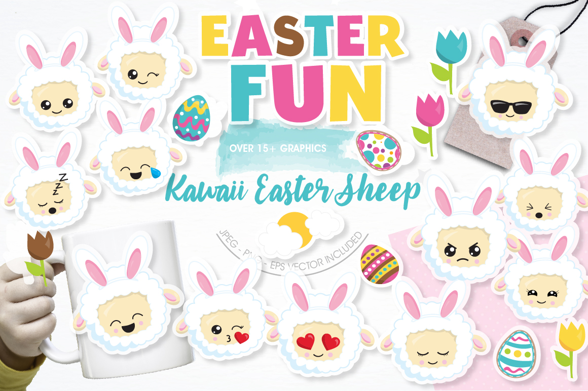 Easter sheep graphics and illustrations example image 1