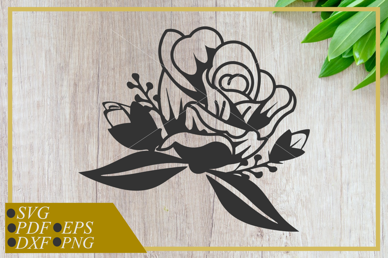 Simple Roses svg, flowers, instant download, cut file example image 1
