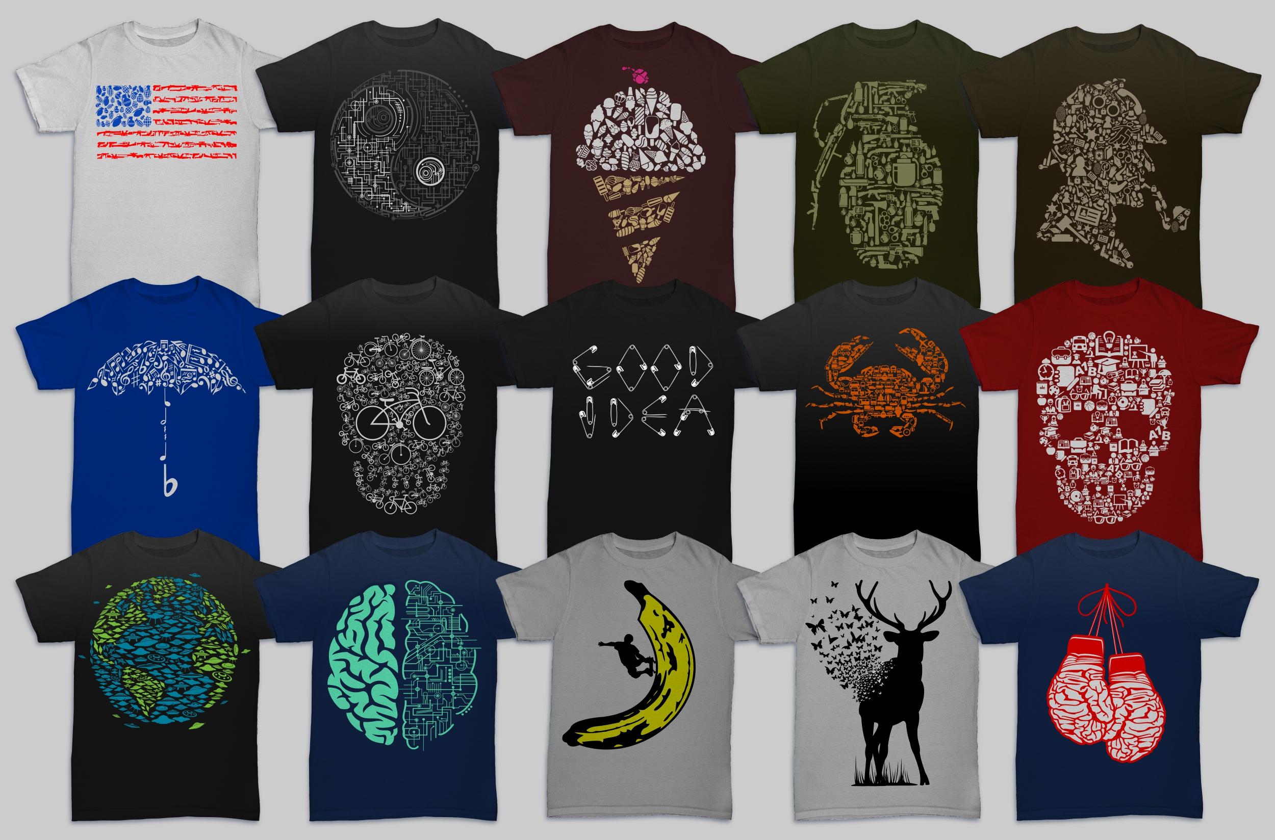 Tshirt Designs Mega Bundle Pack 1 + Pack 2 example image 8