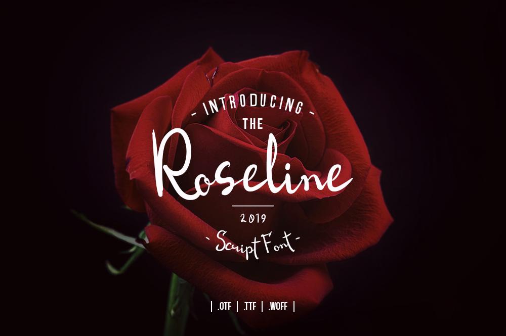 Roseline Script Font example image 1