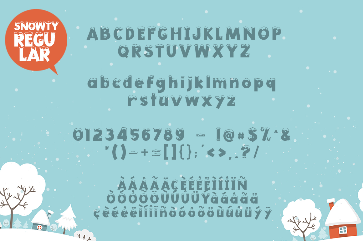 Snowty 3 Font example image 6