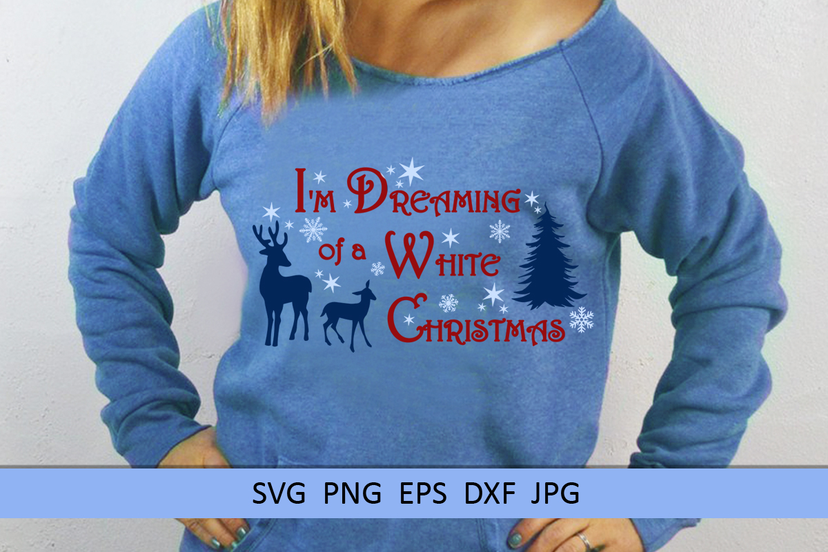 Christmas svg I'm dreaming of a white Christmas Winter svg example image 3