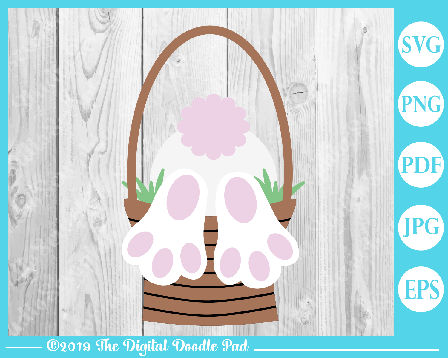 Easter Bunny Butt SVG example image 3