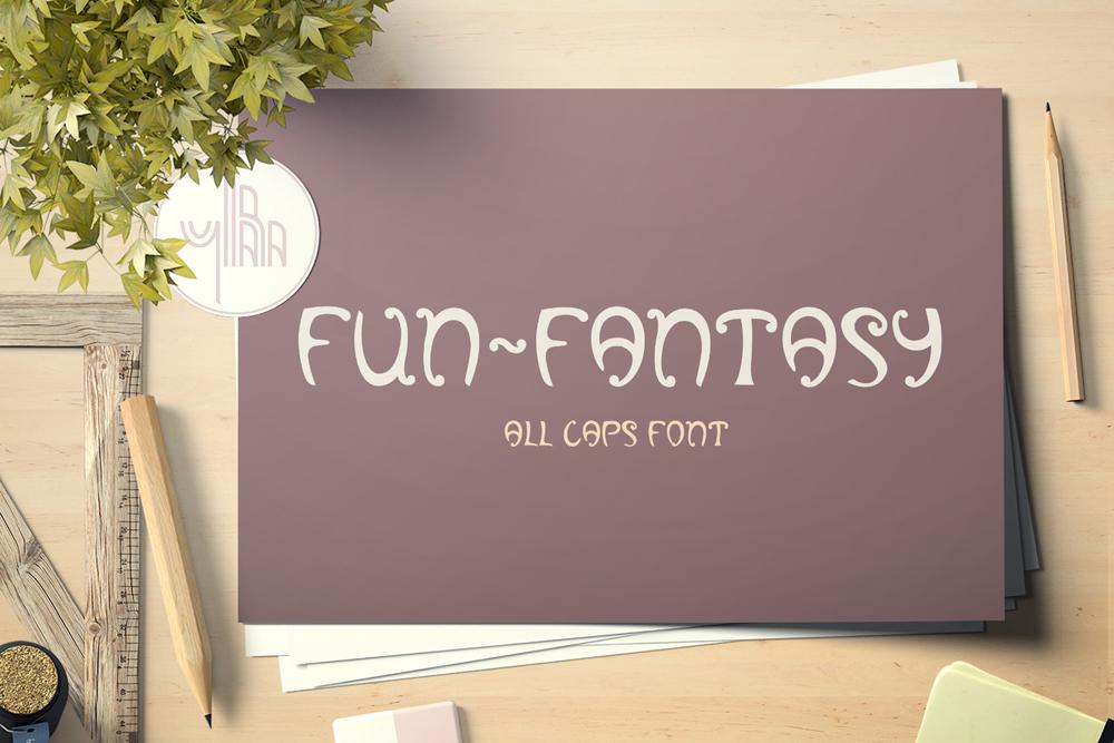 Fun-Fantasy - all caps display font example image 4