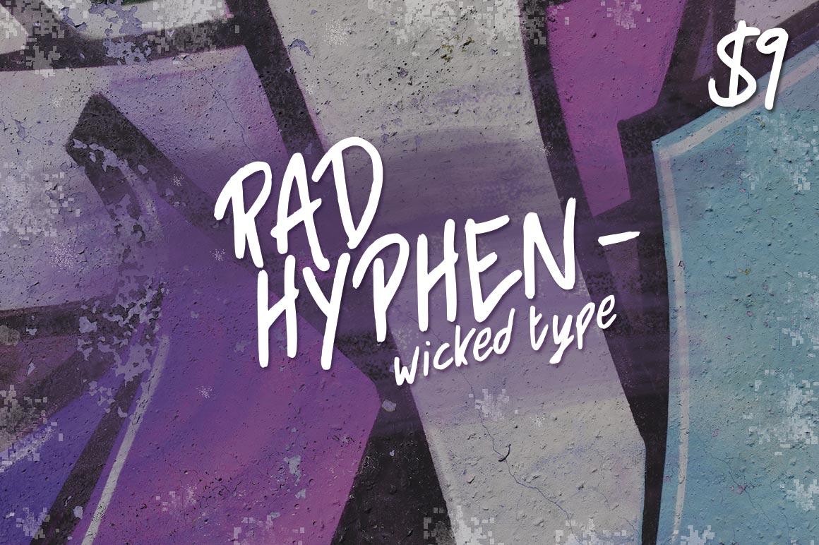Rad Hyphen Font example image 1