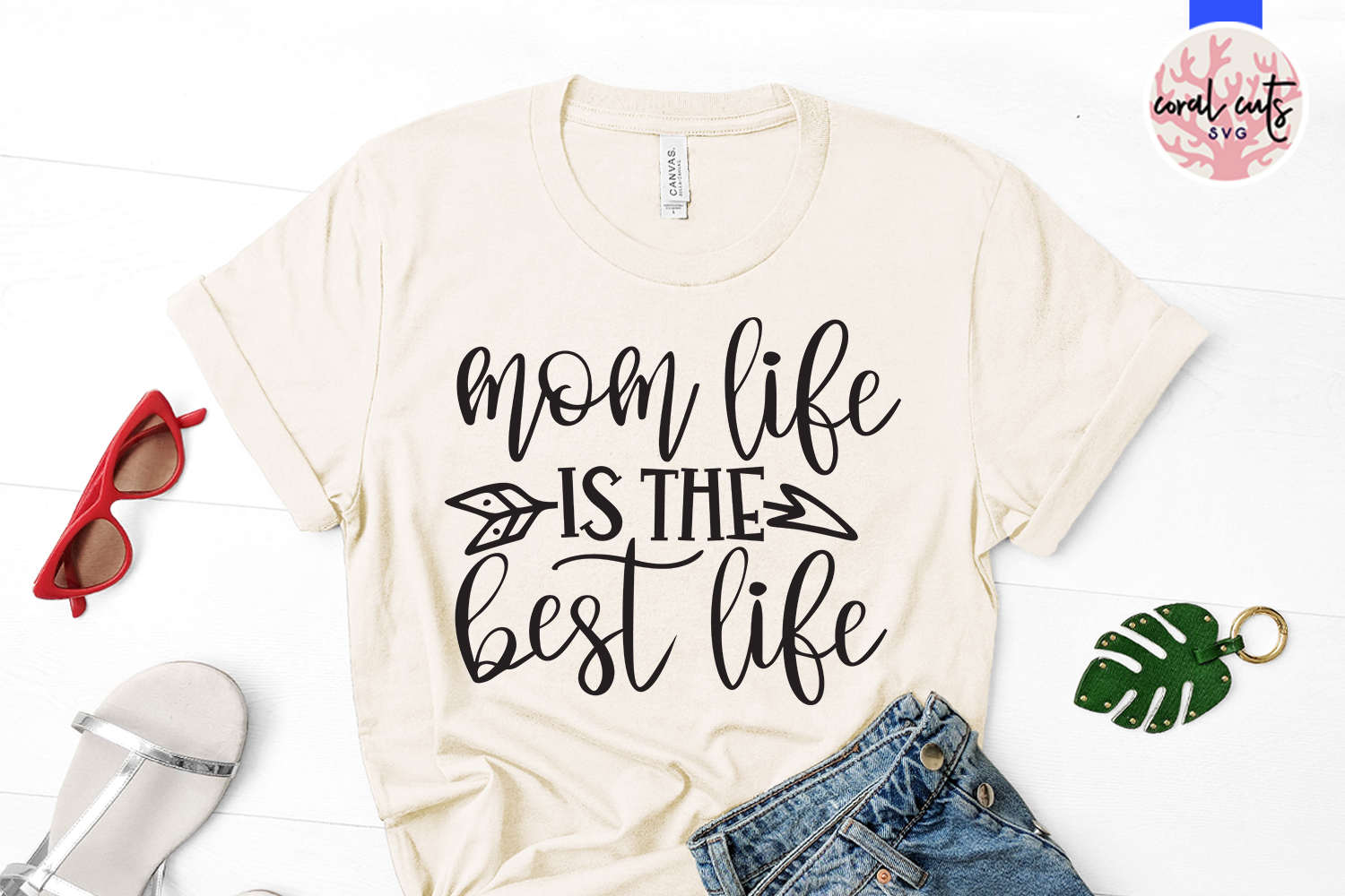 Mom life is the best life - Mother SVG EPS DXF PNG File example image 2