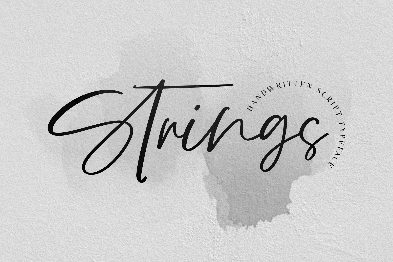 Strings // Handwritten Script Font example image 11