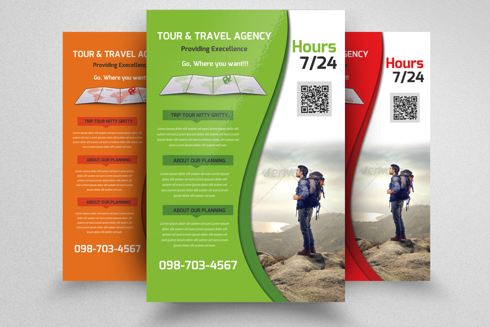 6 Tour Travel & Holiday Agency Flyers Bundle example image 4