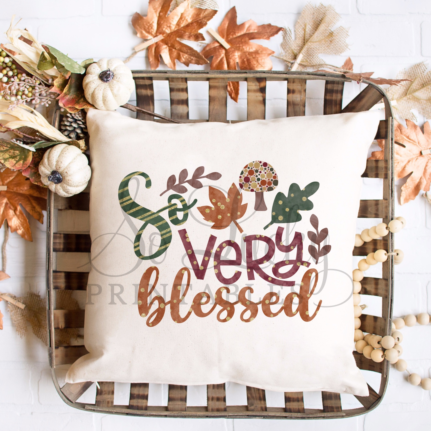 So very blessed watercolor printable sublimation design example image 2
