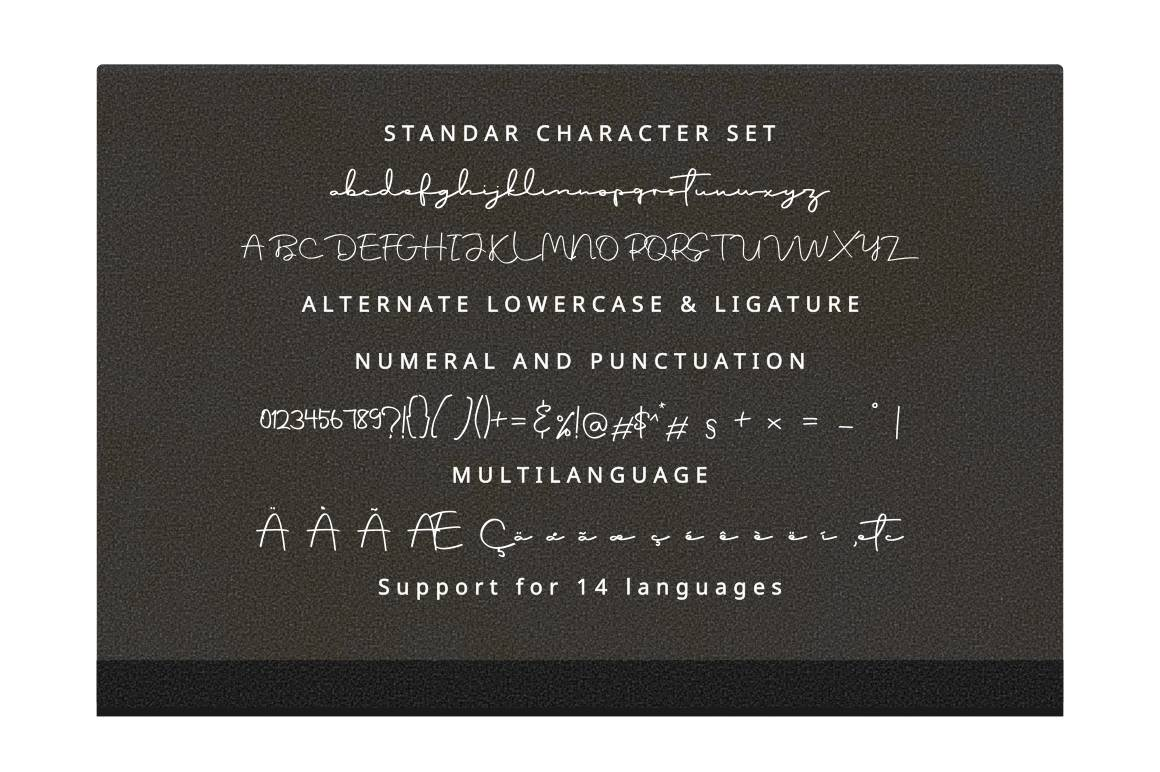 Script Font - Ontoohood Boys example image 2