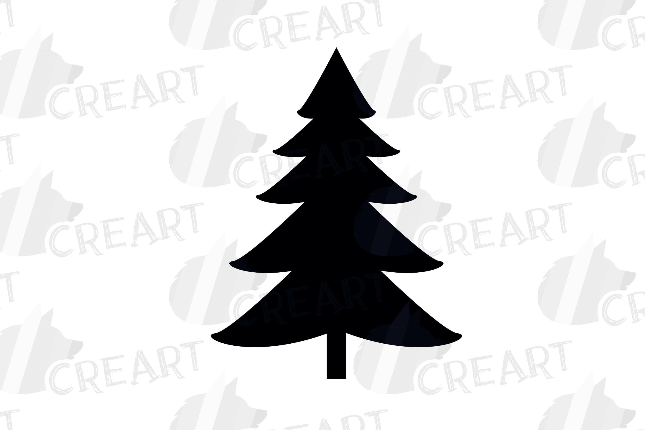 Minimalist Pine Tree: Minimalist Christmas Trees Clip Art. Pine Trees Home Decor