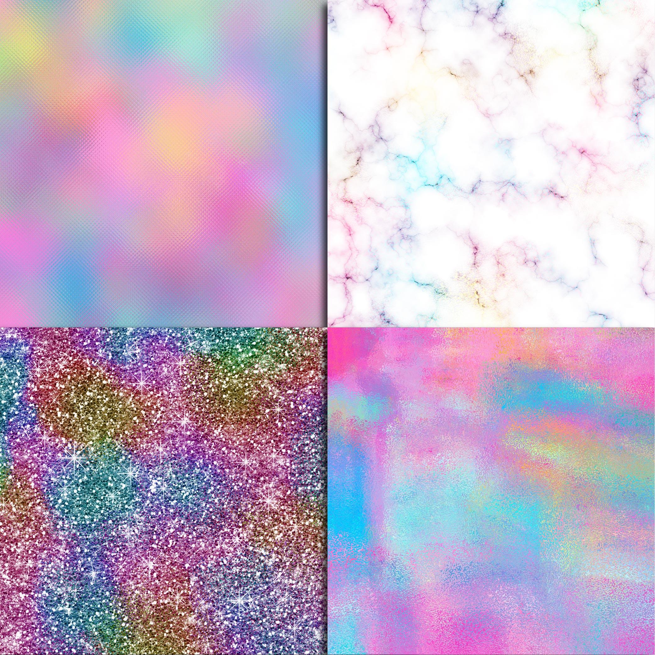 Unicorn Textures Digital Paper example image 2