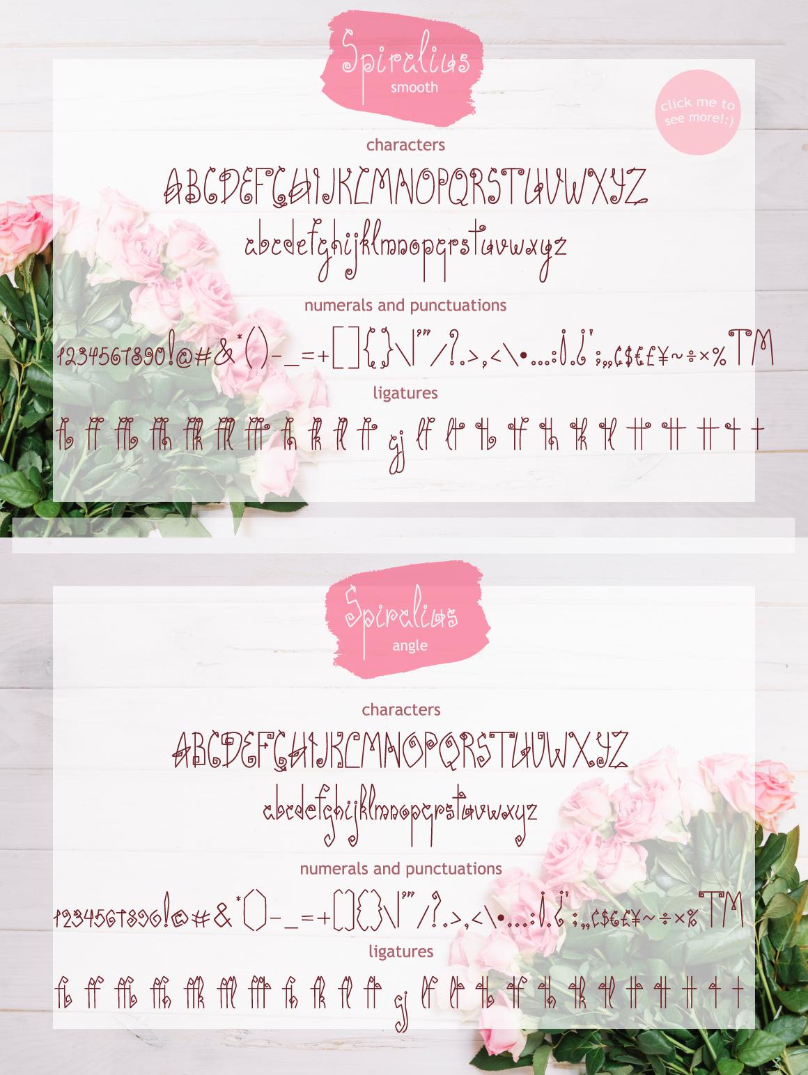 Spiralius Font Duo example image 2