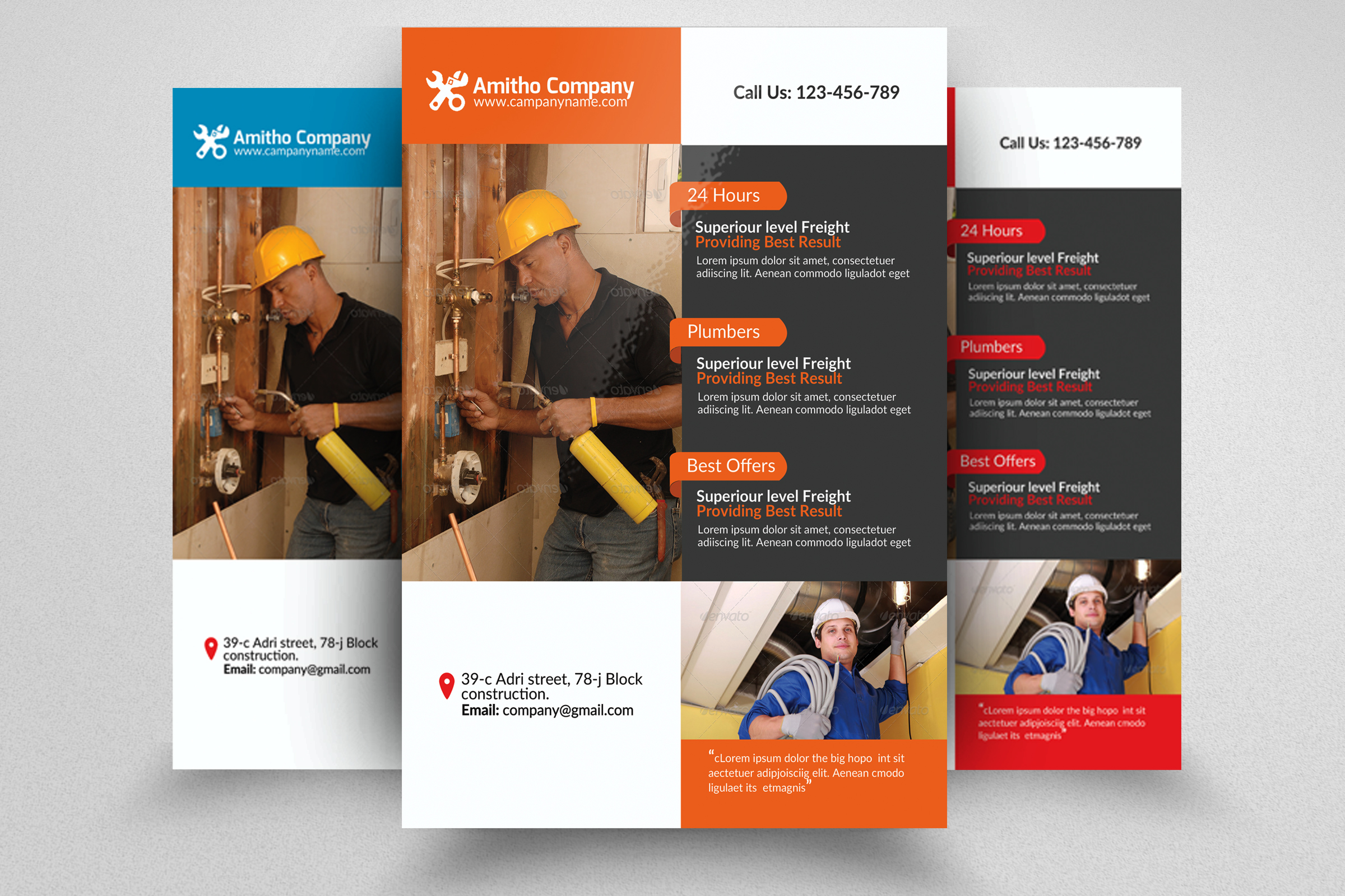 Handyman & Plumber Service Flyer example image 1