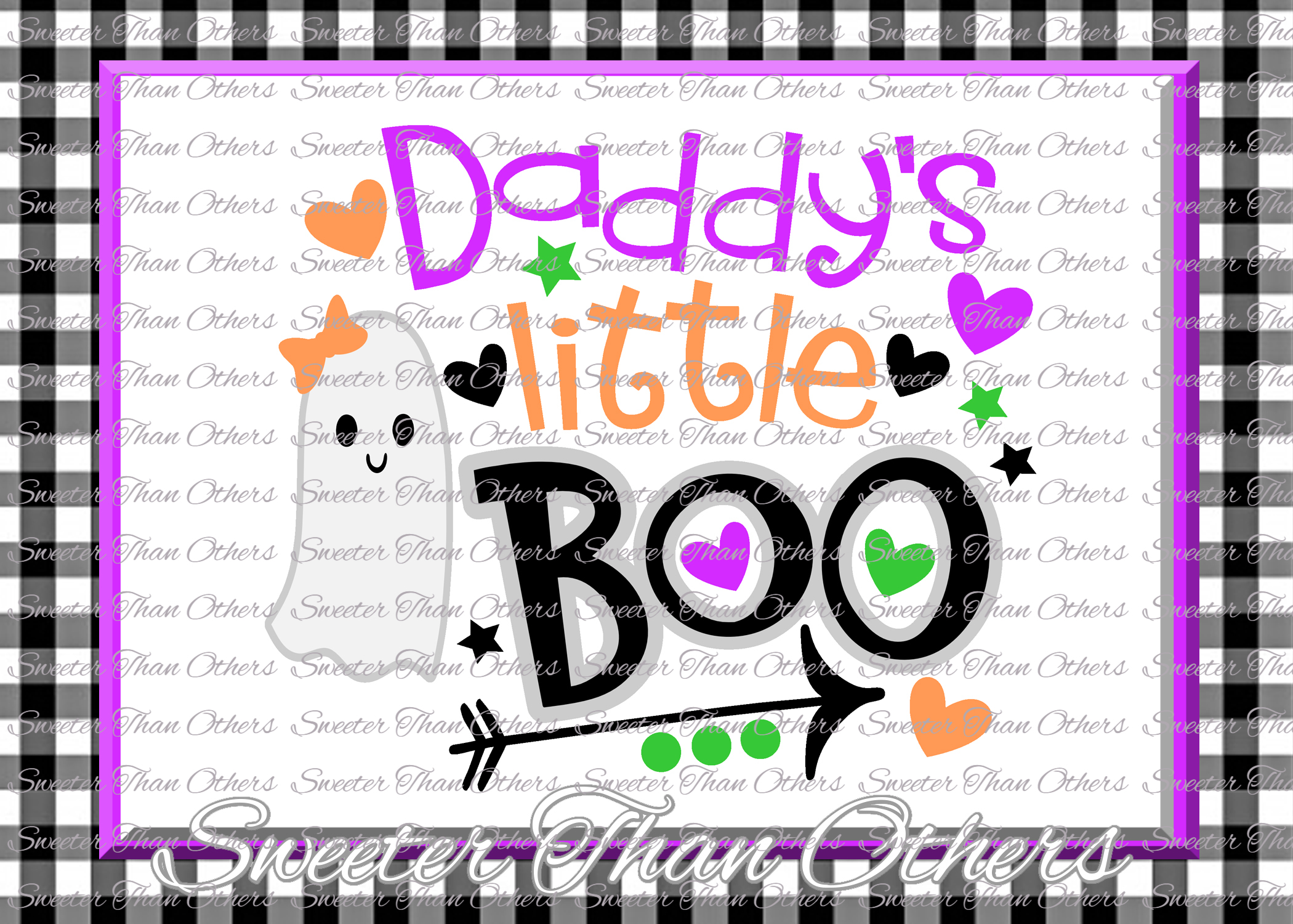 Halloween svg, Daddys Little Boo Svg, Boo Ghost Design example image 1