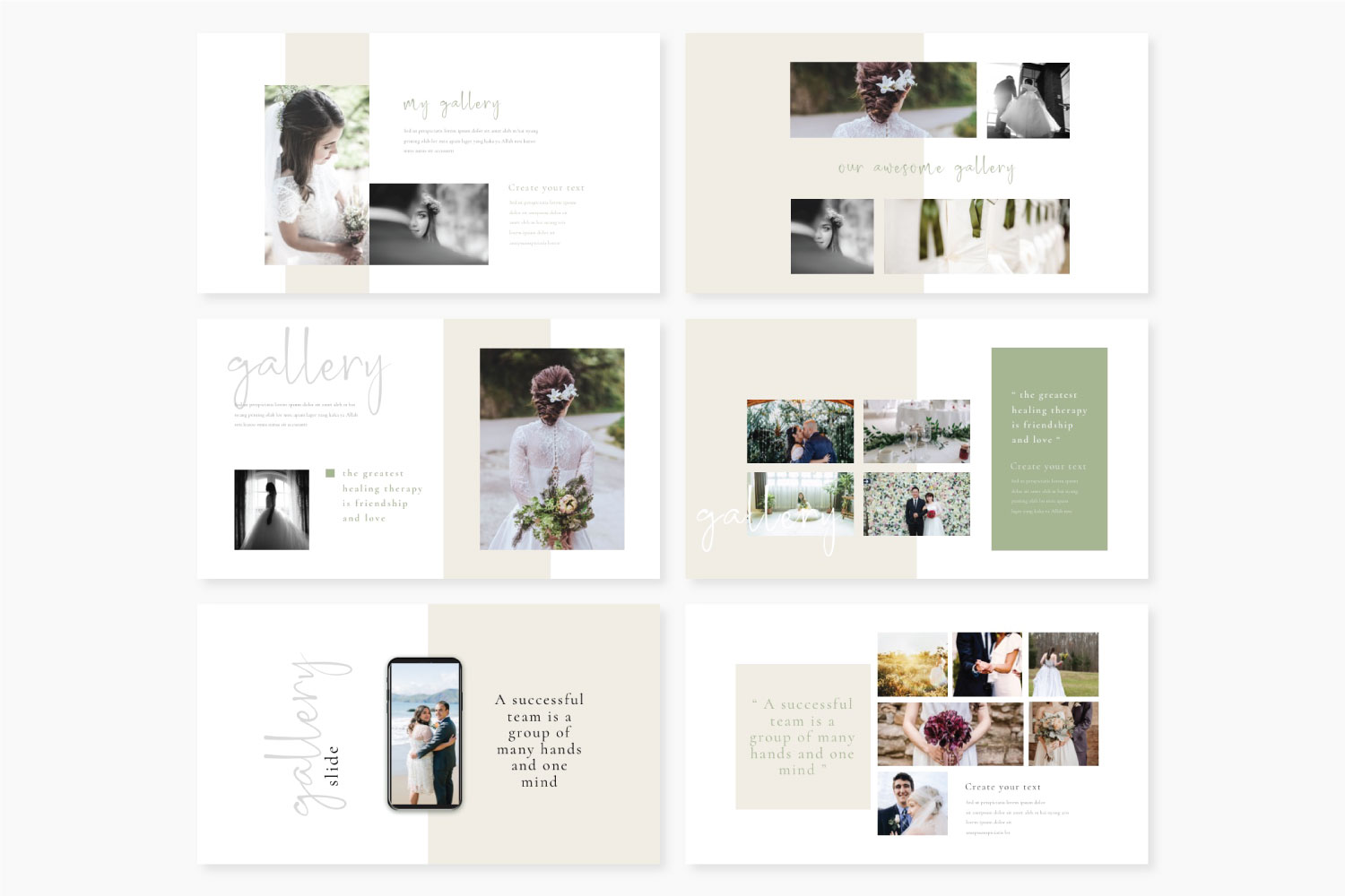 Wedding Powerpoint template example image 4