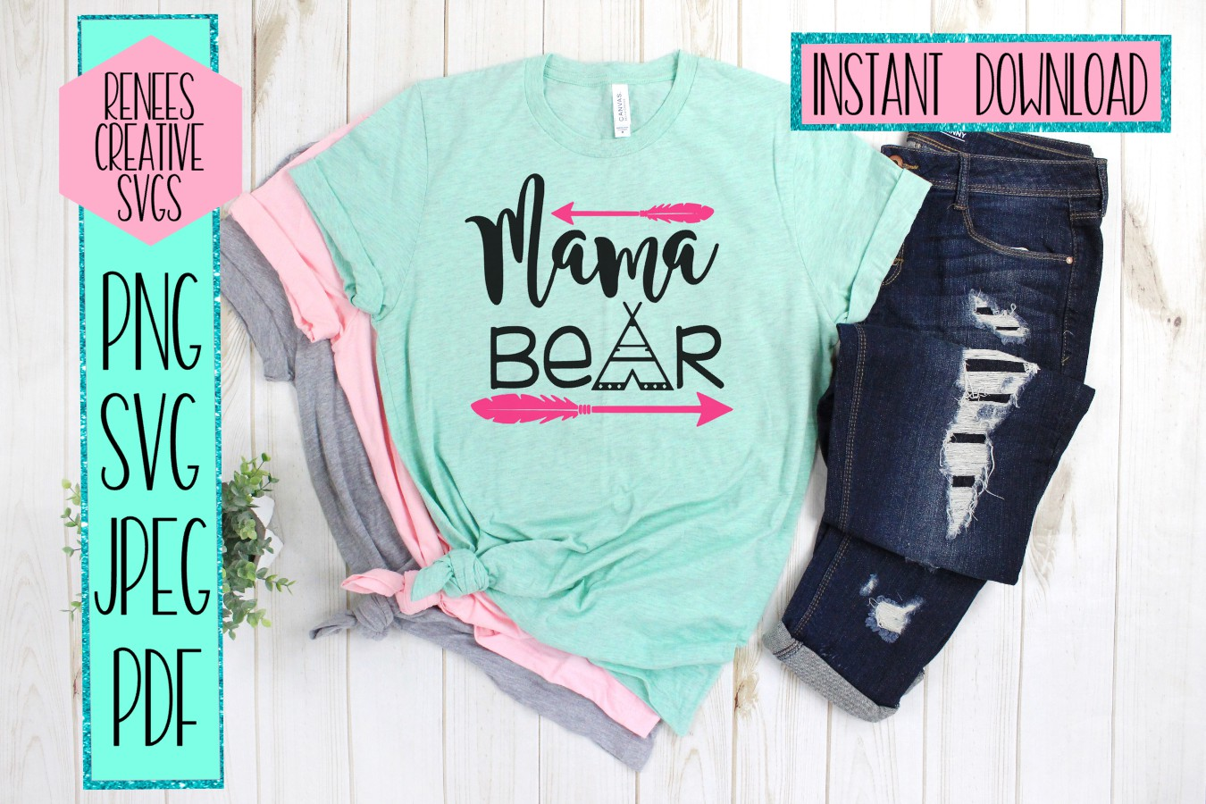 Mama Bear | Mothers day | SVG Cutting File example image 2