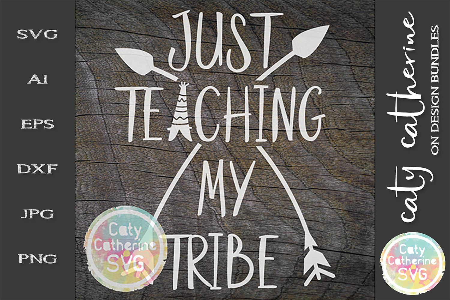 Just Teaching My Tribe SVG Cut File Teacher Appreciation example image 1